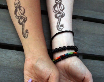 Temporary Dark Mark Tattoos ||| Harry Potter Voldemort Hogwarts Death Eater Bellatrix Malfoy Cosplay