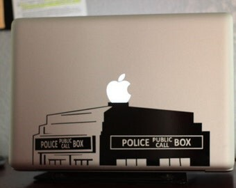"British Police Box 13"" Macbook Apple Laptop Decal"