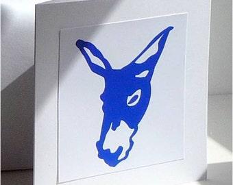 Blue Donkey Card