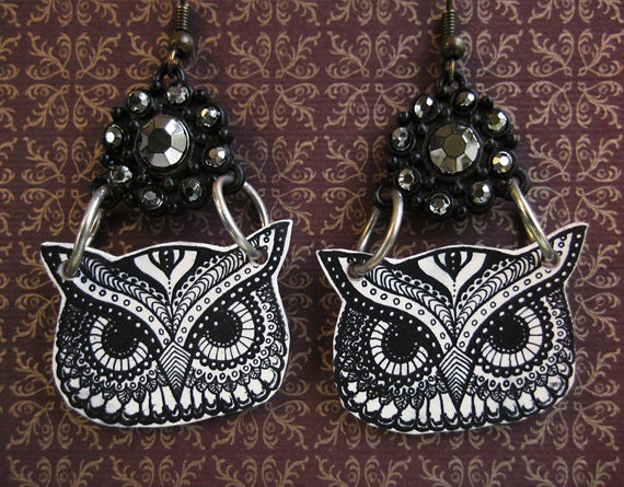 Owl Earrings - Owl Jewelry