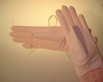 Lovely Vintage COTTON LOVERS - Baby Pink - Shortie Short Gloves