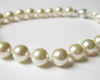 Swarovski Pearl Bracelet - Cream, Luminous, Classic, Bridal, Bridesmaids, Mother Of The Bride, For Her, Anniversary, Birthday