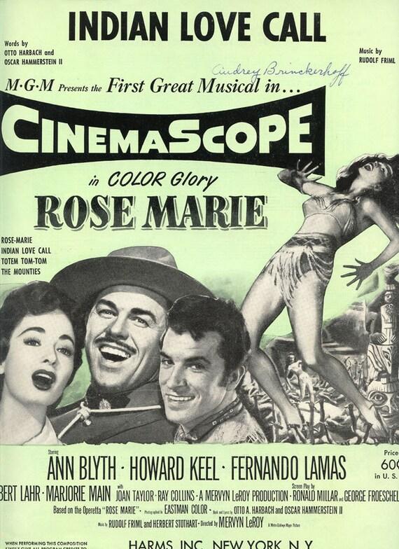1954 rose marie midcentury canadian mountie vintage sheet