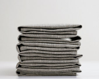 Linen cloth napkins set of 30, cloth dinner napkins, organic flax napkins, hygge style home decor, cocktail napkins in 18x18 inch size  0261