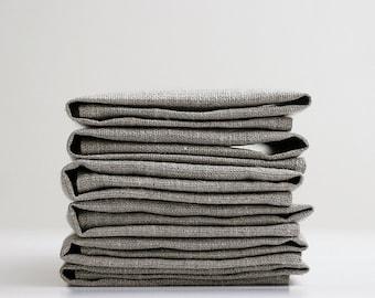 Napkins set - grey napkins - natural linen napkins - linen napkin - wedding napkins bulk  0237