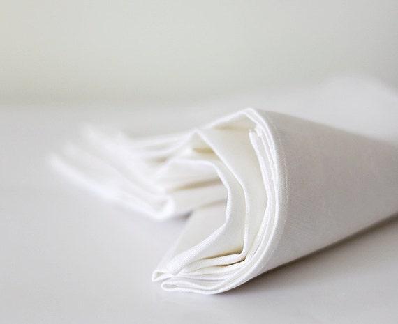 White tablecloth - linen tables decor 57x98    0250