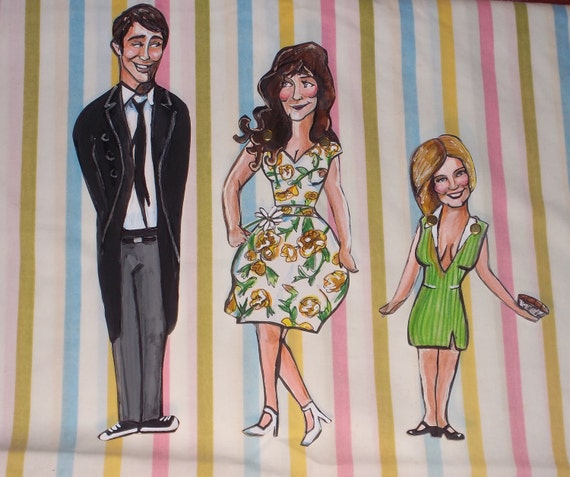 Pushing Daisies Paper Dolls Fan Art --- Ned, Chuck, and Olive