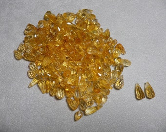 Citrine 10mm - 11mm Teardrop Faceted Beads