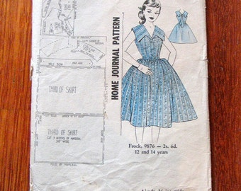 Vintage 1950s Dress Pattern B 31 - Unused in Factory Folds