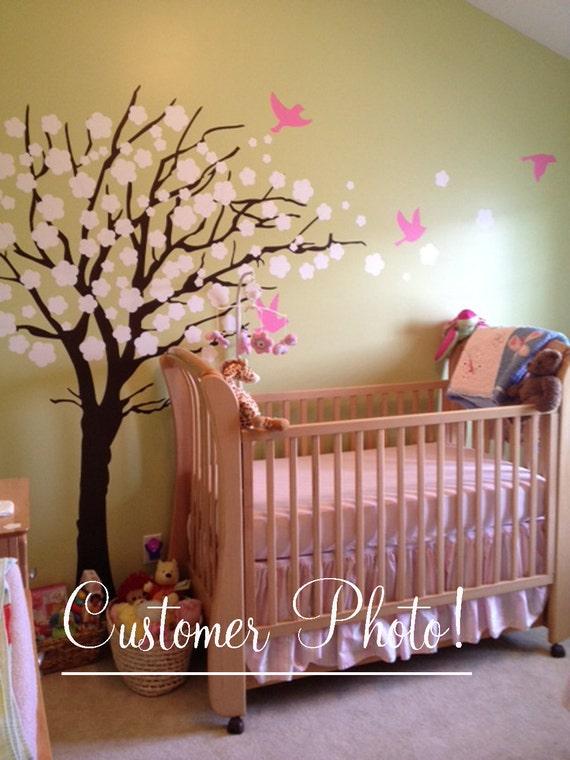 Elegant Vinyl Wall Decal Nursery Tree with by missymoovinyl