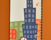 City Themed Canvas Growth Chart