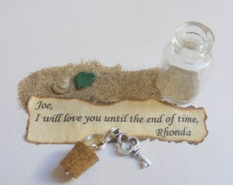 Message In a Bottle Necklace, Bottle Pendant, Miniature Bottle Necklace, Wish Bottle, Personalised Necklace, Message Pendant Message Jewelry