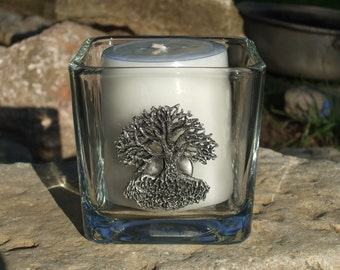 Tree of life candleholder Yggdrasil Celtic Norse Pagan earth mother witch full moon