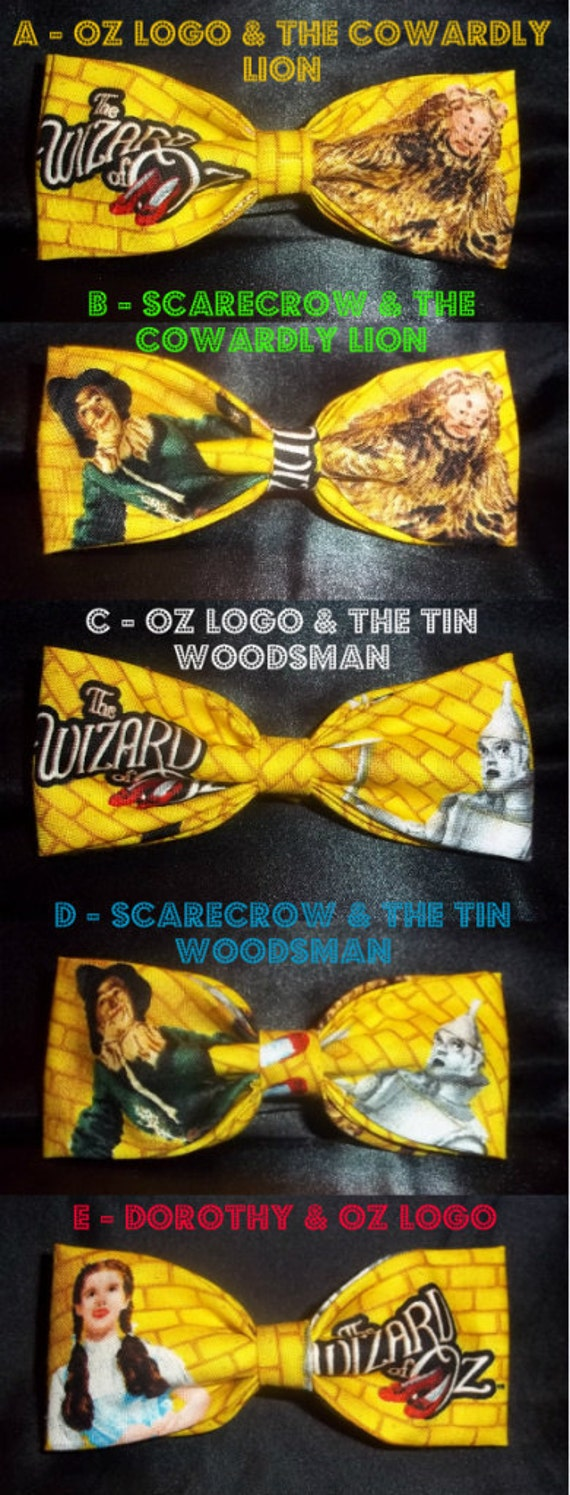 BowTies Made From Wizard of Oz Fabric - Have Fun Wearing One of These Very Stylish Bow Ties - U.S.SHIPPlNG NEVER MORE THAN 1.99