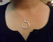 SALE - Large Sterling Silver Heart Necklace, Gift for HER, Love Necklace - Was 21.99 Now 18.00