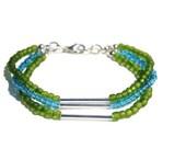 Multistrand Bracelet Glass Beads Bracelet Wrap Beaded Bracelet