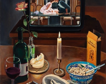 Love Substitutes, Limited Edition Fine Art Print, Sixteen Candles, wine, mac and cheese