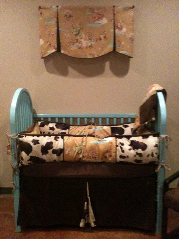 Items Similar To Vintage Cowboy Western Baby Bedding With