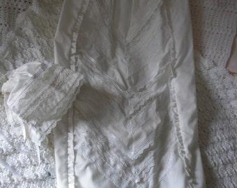 Heirloom chevron bodice Christening gown