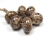 Coffee Bean - Handmade Lampwork Glass Beads SRA (6)