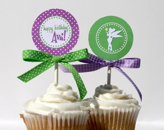 TINKERBELL Cupcake Toppers Printable