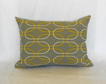 SALE Lumbar Pillow Decorative Pillow Cover Grey Pillow Premier Prints Shiba Grey