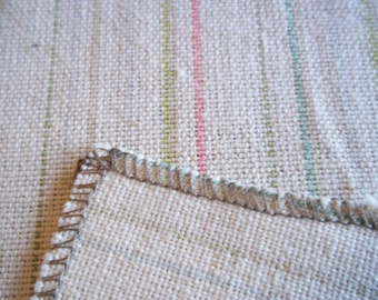 Vintage Cotton Linen 1960's Kinnasand Fabric Sweden Sample Size Sewing Supplies