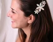Hair barrette, Women hair clip, Girl barrette, Flower barrette, Women hair accessory, Flower hair clip, Girl hair accessory, Women barrette