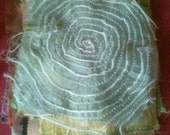 Spiral, Nature inspired embroidered fabric design sample