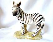 Aldon Porcelain Zebra   Aldon Fine Grained Porcelain ID 017