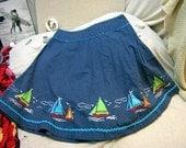 Liz Claiborne Sail Skirt - Size Petite 10