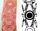 Design-Stempel für Clay PMC Textilien und Scrapbooking - afrikanische Anhänger Design