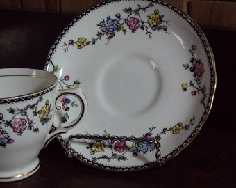 English Tuscan Fine Bone China Cup and Saucer