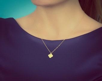 Gold Clover necklace | Rose gold clover necklace / Clover necklace / Good luck necklace / 14k gold filled / Silver Clover necklace | Clover