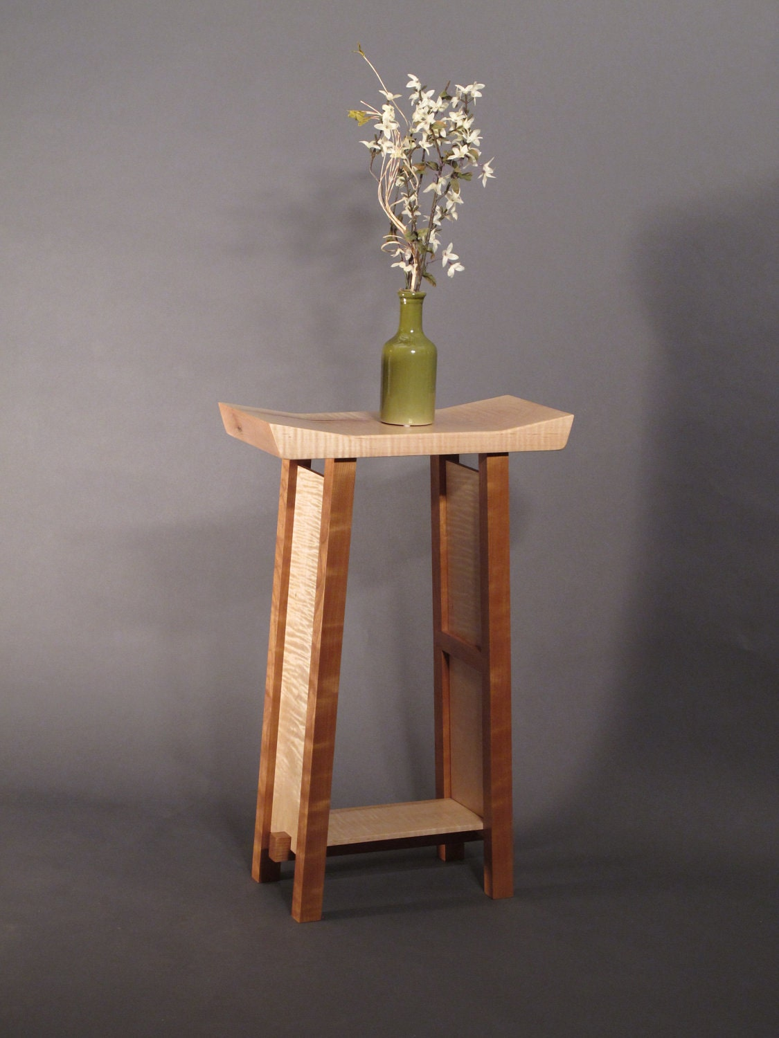 Small Side Table Tiger Maple Amp Cherry Narrow End Table Entry