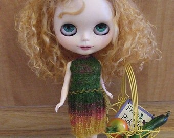Blythe Sun Dress- Knit Variegated Yarn  Dress