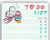 To Do List checklist Notepad by boygirlparty - Paper Pad Stationery For Book Lovers