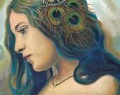 Eidyia - Ocean Goddess Mermaid Portrait Fine Art 11x14 Print