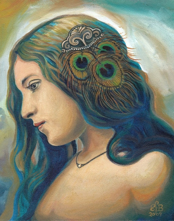 Eidyia - Ocean Goddess Mermaid Portrait Fine Art 11x14 Print
