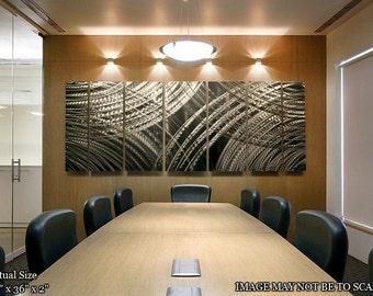 Silver Modern Metal Wall Art - Contemporary Silver Wall Sculpture - Home Decor - Wall Accent - Artwork - Resonance XL by Jon Allen