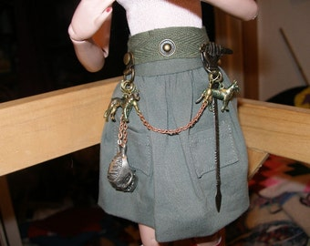 Elllowyne and friends  BJDs sword, belt, skull, dogs, chains  TeamBJD  trashionteam  FunkyAlternativeJewelry  Halloween24/7