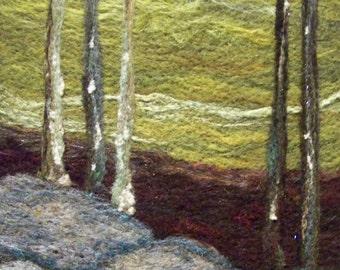 No.434 Stream Too - Needlefelt Art Large