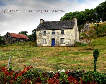 IRISH Cottage in GALWAY, Landscapes of CONNEMARA, Derelict Building, Ireland Photography, Old Country Manor, Farm Life, House on a Hill