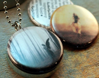 Photo Picture Locket Set, S A N C T U A R Y -  3 Lid Interchangeable LOCKET SET