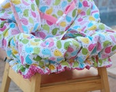 Shopping Cart Cover - Boutique Shopping Cart Cover for Baby Girl  - Spring Birdies