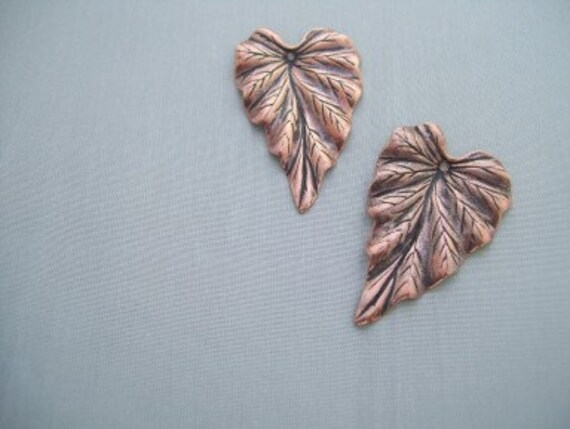 Copper leaf Pendant Jewelry Finding jewelry making