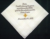 From the Bride to her Father 118S FREE gift box and Free shipping in US. Personalized Wedding Handkerchief