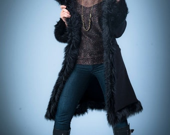 Black Faux Fur Urbaness Jacket