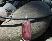 Red Jasper in Silver Pendant - Red Desert Hoodoo