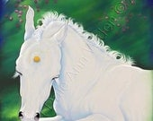 Unicorn Horse Princess Fantasy High Quality 5x7 Art Print First Nap
